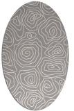 rug #1323380 | oval beige natural rug