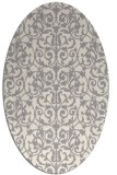 rug #1323400 | oval white damask rug