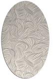 rug #1323420 | oval white natural rug
