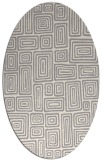 rug #1323520 | oval white retro rug