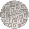 rug #1323528 | round beige retro rug