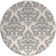 rug #1323568   round beige damask rug