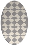 rug #1323580 | oval white retro rug