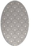rug #1323600 | oval white rug