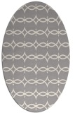 rug #1323660 | oval white traditional rug