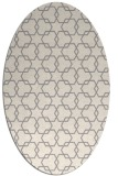 rug #1323700 | oval white geometry rug