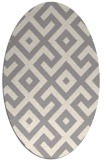 rug #1323760 | oval white geometry rug