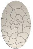 rug #1323820 | oval white rug