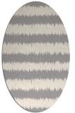 rug #1323880   oval white stripes rug