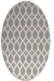 rug #1323920 | oval white circles rug