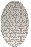 rug #1323940 | oval beige geometry rug