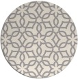 rug #1323948 | round white geometry rug