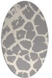 rug #1323960 | oval beige popular rug