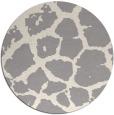 rug #1323968 | round beige animal rug