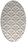 rug #1324020 | oval beige graphic rug