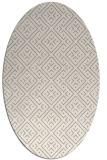 rug #1324100 | oval white traditional rug