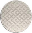 rug #1324108 | round white popular rug