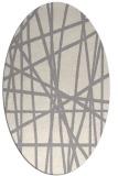rug #1324200 | oval white stripes rug