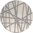 rug #1324208 | round white stripes rug