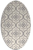 rug #1324240 | oval white traditional rug