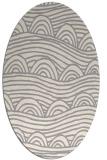 rug #1324380 | oval white abstract rug