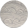 rug #1324388 | round white abstract rug