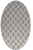 rug #1324400 | oval white traditional rug