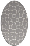 rug #1324420 | oval white check rug