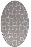 rug #1324420 | oval beige check rug
