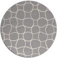 rug #1324428 | round white check rug