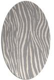 rug #1324520   oval white animal rug