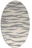 rug #1324580 | oval white stripes rug