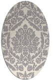 rug #1324660 | oval white damask rug