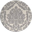 rug #1324668 | round white traditional rug