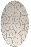 rug #1324740 | oval beige circles rug