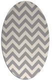 rug #1325020 | oval beige stripes rug