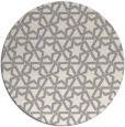 rug #1325108   round white geometry rug