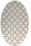 rug #1325140 | oval beige popular rug