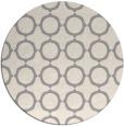 rug #1325148 | round white circles rug
