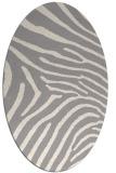 rug #1325220 | oval beige animal rug