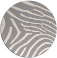 rug #1325228 | round white animal rug