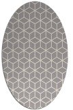 rug #1325340 | oval beige geometry rug