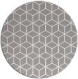 rug #1325348 | round white geometry rug