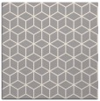 rug #1325356 | square white geometry rug