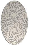 rug #1325440 | oval beige abstract rug