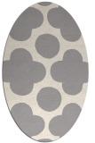 rug #1325500 | oval white circles rug