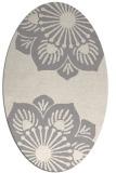 rug #1325560 | oval white natural rug