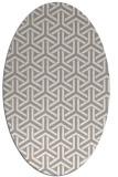 rug #1325600   oval white retro rug