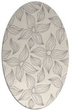 rug #1325720 | oval beige natural rug