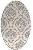 rug #1325740 | oval white traditional rug